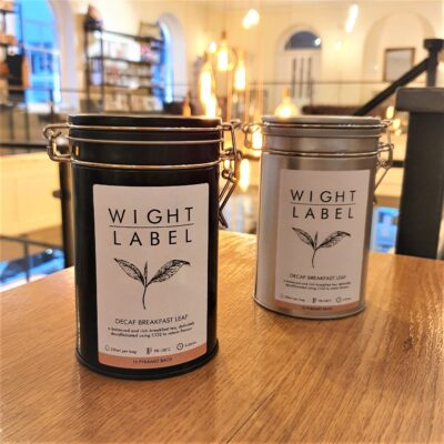 Wight Label Tea - Filled Tea Caddy - Decaf Breakfast