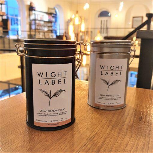 Wight Label Tea - Filled Tea Caddy - Decaf Breakfast